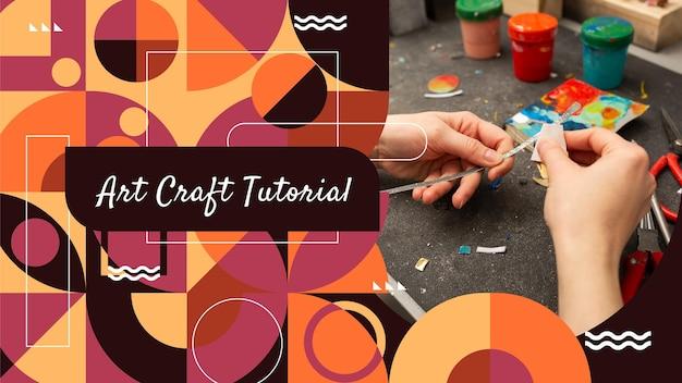 Miniatura de youtube de artesanía geométrica plana