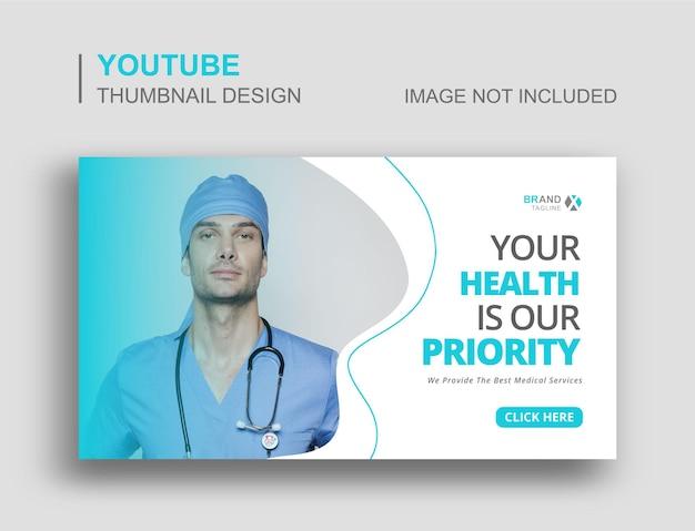 Miniatura de youtube de atención médica y banner web