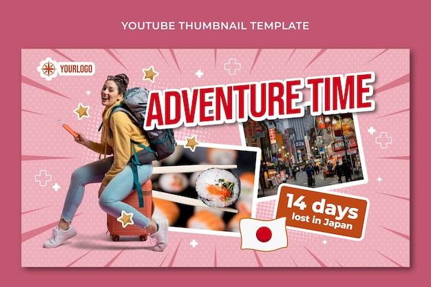 Miniatura de youtube de aventura plana