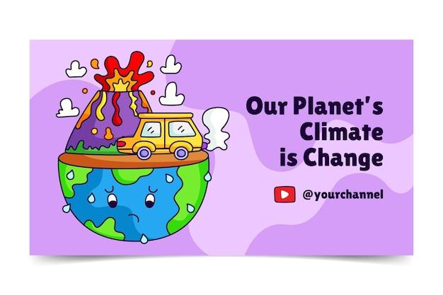 Miniatura de youtube del cambio climático dibujada a mano