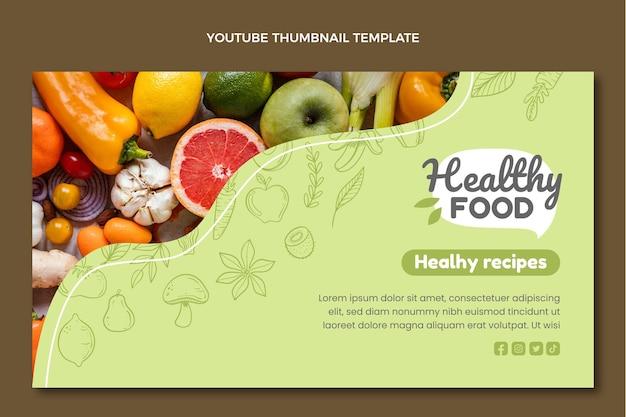 Miniatura de youtube de comida dibujada a mano