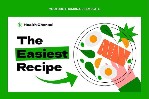 Miniatura de youtube de comida sana plana