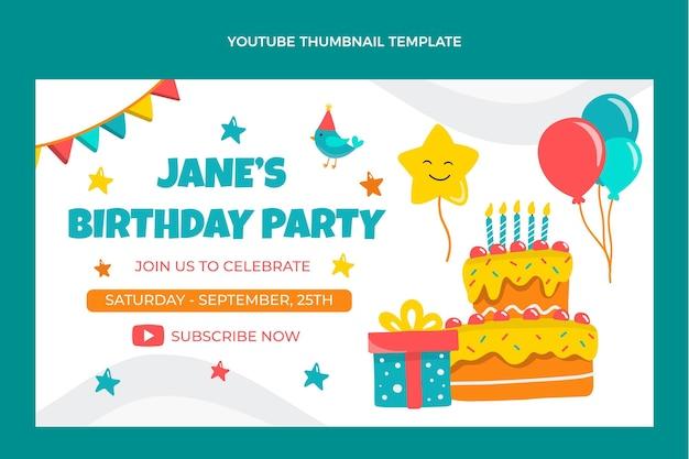 Miniatura de youtube de cumpleaños infantil dibujada a mano