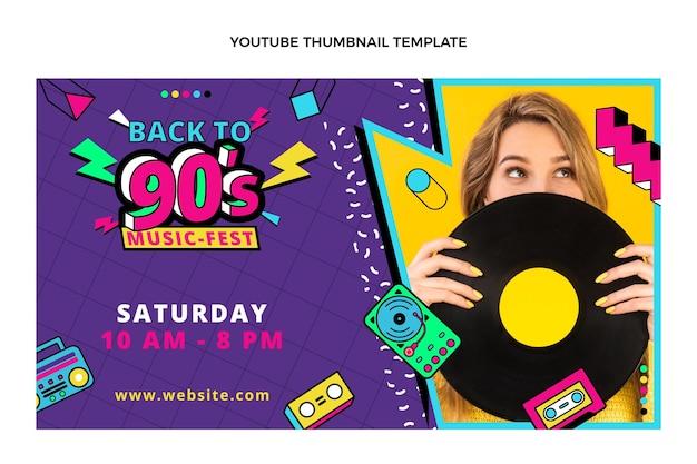 Miniatura de youtube del festival de música nostálgica plana de los 90