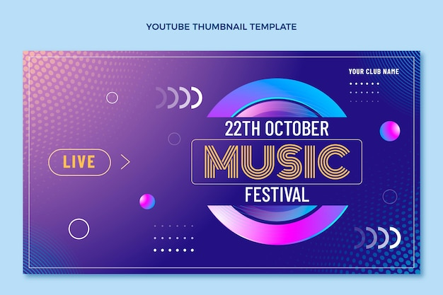 Miniatura de youtube del festival de música de semitono degradado