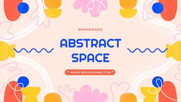Miniatura de youtube de formas abstractas dibujadas a mano