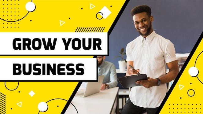 Miniatura de youtube de negocios abstractos