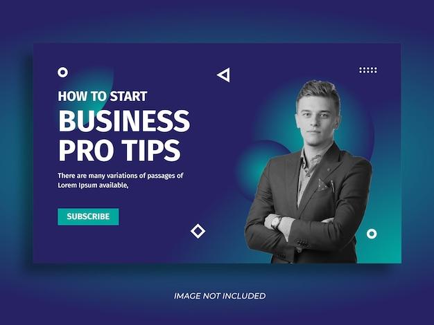 Miniatura de youtube de negocios