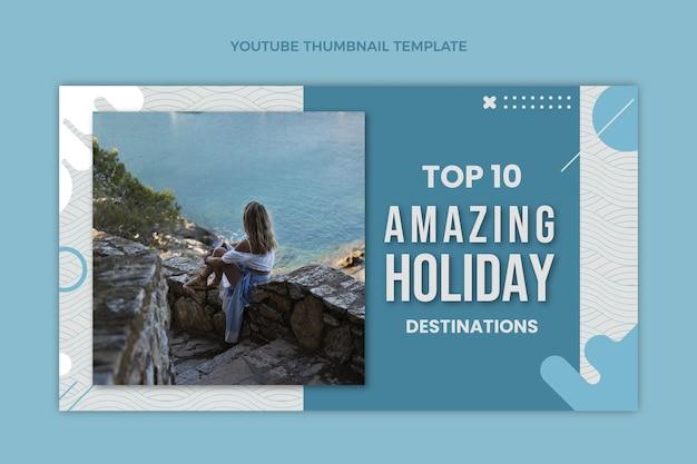 Miniatura de youtube de viajes de estilo plano
