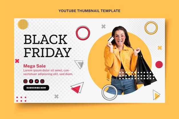 Miniatura de youtube de viernes negro plano