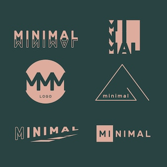 Minimal logo collection en dos colores.