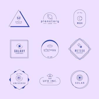 Minimal logo collection en dos colores.