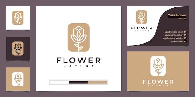 Minimalista elegante flor rosa salón de belleza de lujo, moda, cuidado de la piel, cosméticos, productos de yoga y spa.
