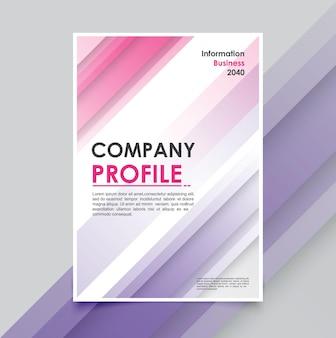 Mínimos de plantilla de folleto comercial moderno