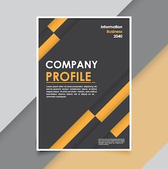 Mínimos de plantilla de folleto de fondo empresarial moderno