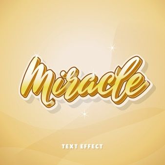 Miracle gold text effect