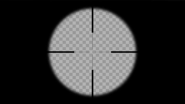 Mirada moderna en forma de cruz de francotirador