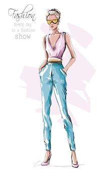 Mirada de mujer de moda