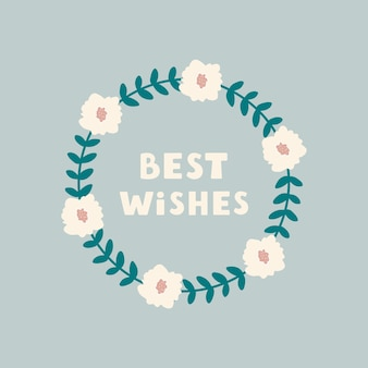 Mis mejores deseos tarjeta de felicitación ilustración vectorial