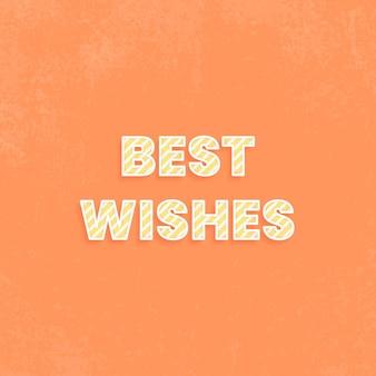 Mis mejores deseos tarjeta de felicitación