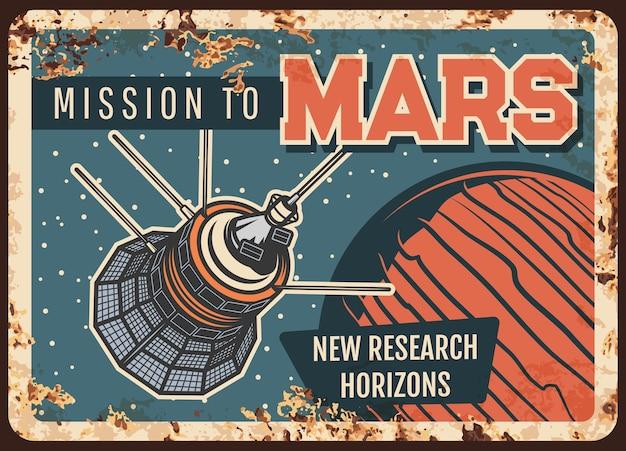 Misión a marte. satélite