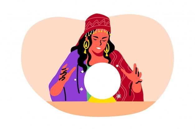 Misterio, adivinación, astrología, concepto futuro