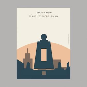 La mitad del mundo quito, ecuador landmark poster