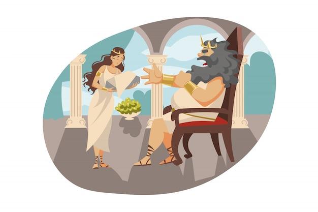 Mitología, grecia, olimpo, leyenda, concepto de religión.