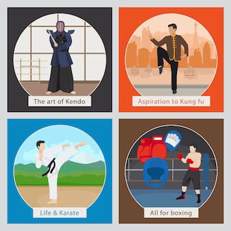 Mma o ilustración de vector de artes marciales mixtas