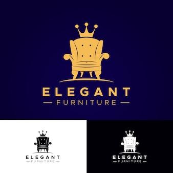 Mobiliario logo diseño elegante