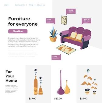 Mobiliario para todos y para el hogar, tiendas web