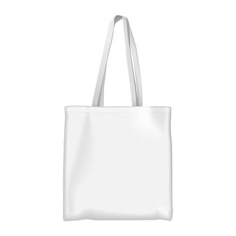 Mock up de bolsa ecológica blanca completa