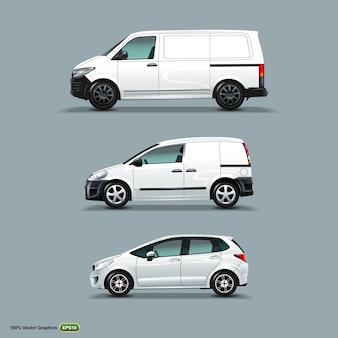 Mock up conjunto de coche blanco