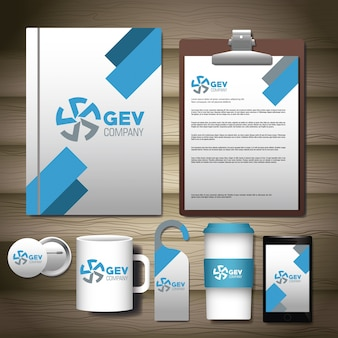 Mock up de identidad corporativa