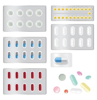 Mock up píldora anticonceptiva realista