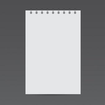 Mockup de bloc de notas