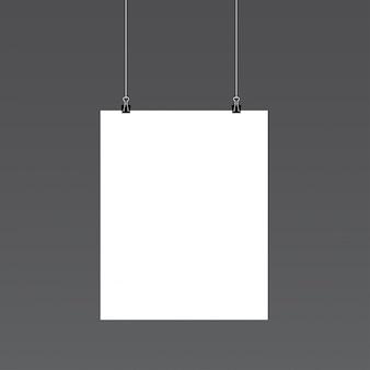 Mockup de retrato de papel