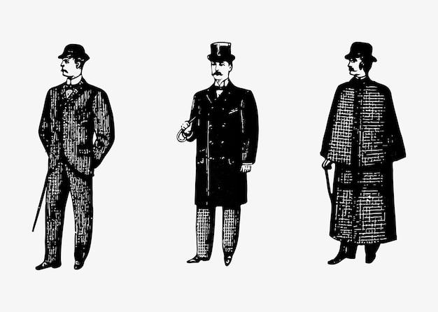 Moda de caballero del pasado.
