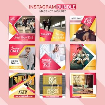 Moda creativa instagram post diseño