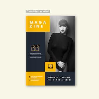 Moda lookbook folleto y diseño de portada de revista
