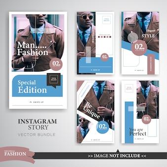 Moda trend plantilla de historia de instagram