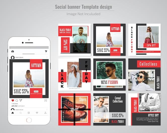 Moda venta plantilla de redes sociales