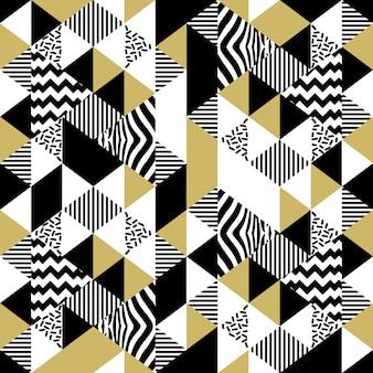 Modelo abstracto de moda triángulo de memphis moda inconsútil