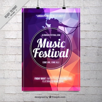 Modelo de cartel abstracto de fiesta de música