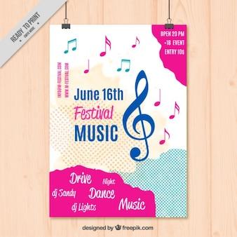 Modelo de cartel de música