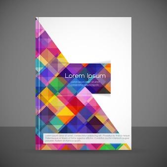 Modelo de folleto geométrico