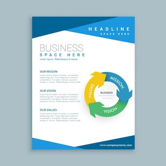 Modelo de folleto de negocio con gráfico