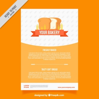 Modelo de folleto de panadería con pan de molde