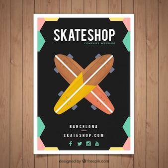 Modelo de folleto de tienda de skape