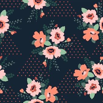Modelo inconsútil abstracto floral.